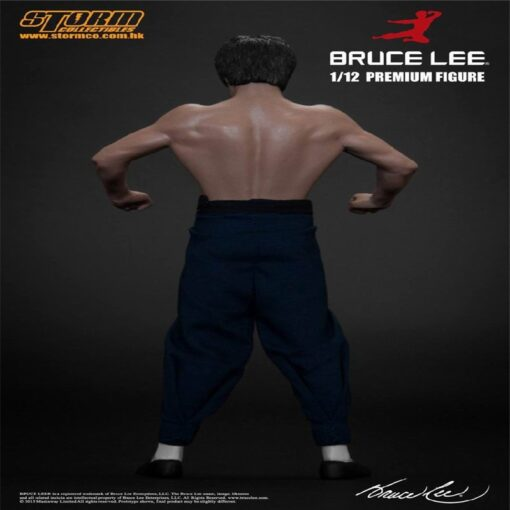 New 20CM Bruce Lee Bat Muscle Figure Full Body Real Clothes Interchangeable Head Double Head Action 5