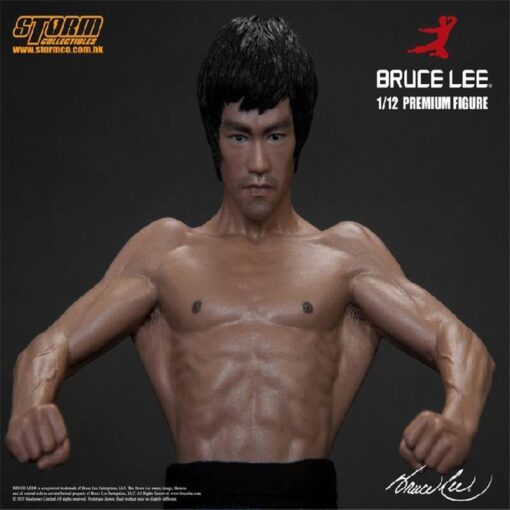 New 20CM Bruce Lee Bat Muscle Figure Full Body Real Clothes Interchangeable Head Double Head Action