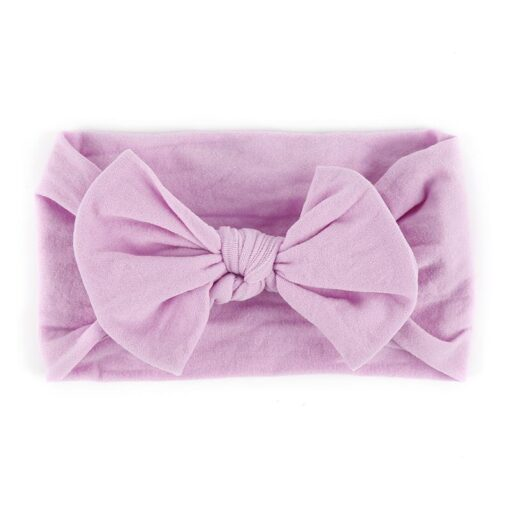 New 21Color Newborn Baby Headbands Nylon Hair Band Turban Knotted Girl s Hairbands For Newborn Toddler 5