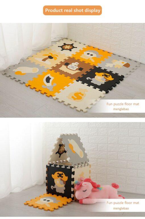 New 9pcs set EVA Foam Play Mat Baby Puzzle Floor Mats Carpet Pad Toys For Children 3