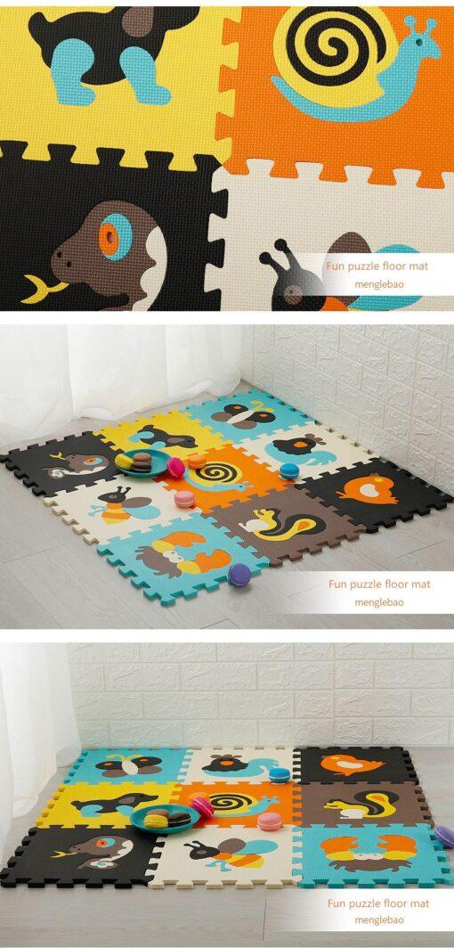 New 9pcs set EVA Foam Play Mat Baby Puzzle Floor Mats Carpet Pad Toys For Children 4