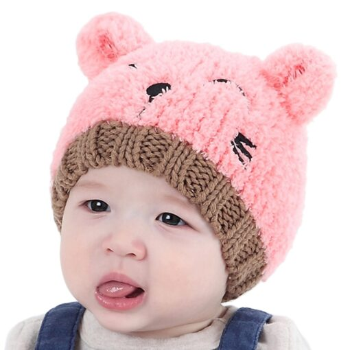 New Arrival Baby Girl Boy Winter Hat Baby Soft Warm Beanie Hat Crochet Elasticity Knitted Hats 1