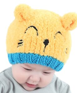 New Arrival Baby Girl Boy Winter Hat Baby Soft Warm Beanie Hat Crochet Elasticity Knitted Hats 2