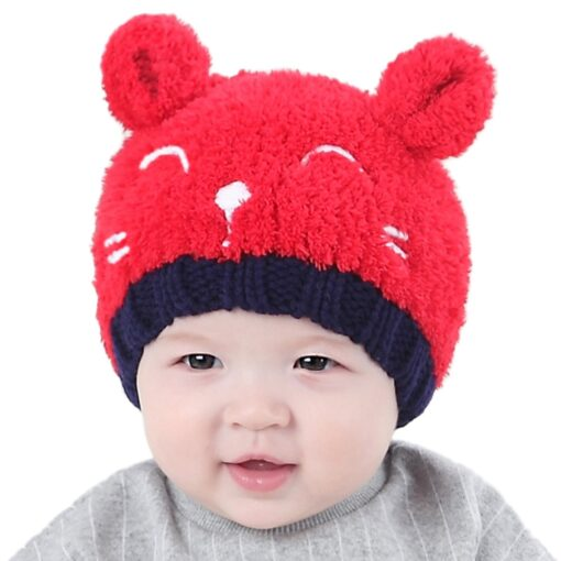 New Arrival Baby Girl Boy Winter Hat Baby Soft Warm Beanie Hat Crochet Elasticity Knitted Hats 5
