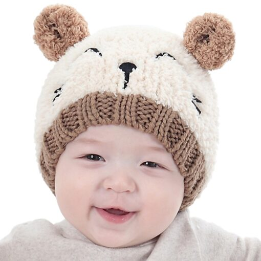 New Arrival Baby Girl Boy Winter Hat Baby Soft Warm Beanie Hat Crochet Elasticity Knitted Hats