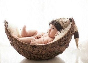 New Arrival Newborn No Blanket Hand Series Children Photography Big Crescent Photography Baby Infant Basket Props