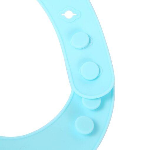 New Baby Bib Adjustable Baby Bibs Waterproof Saliva Dripping Bibs Soft Edible Silicone Ssaliva Towel Feed 4