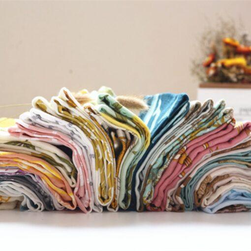 New Baby Cotton Blankets Newborn Soft Organic Cotton Blanket Baby Muslin Blanket Feeding Blanket Wrap Scarf 1