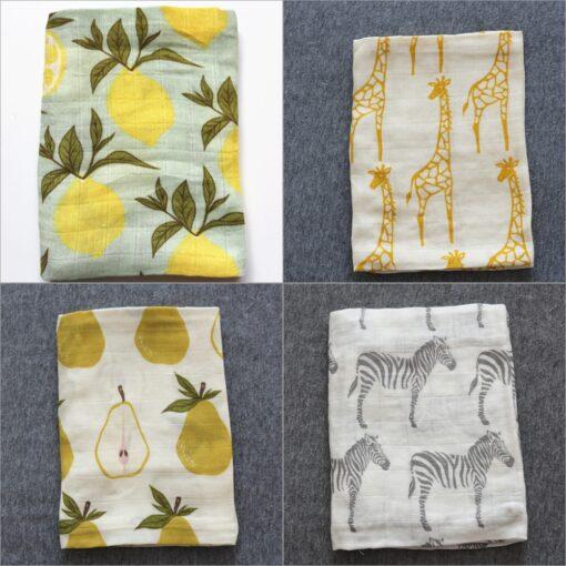 New Baby Cotton Blankets Newborn Soft Organic Cotton Blanket Baby Muslin Blanket Feeding Blanket Wrap Scarf 3