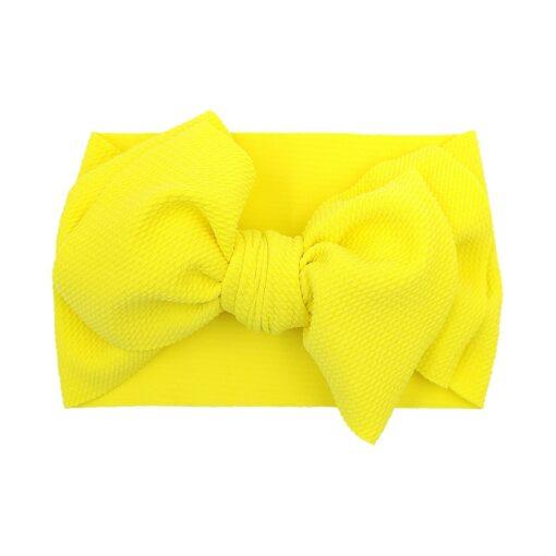 New Baby Girls Headband Toddler Big Bow Hairband Cute Solid Stretch Turban Big Knot Head Wrap 5