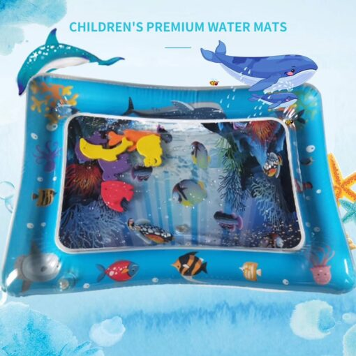 New Baby Kids water play mat Inflatable Infant Tummy Time Playmat Toddler for Baby Fun Activity 2