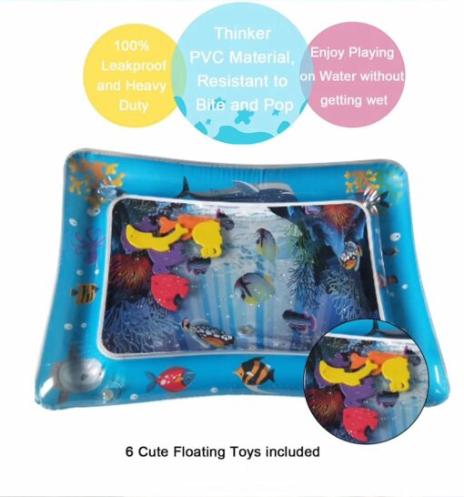 New Baby Kids water play mat Inflatable Infant Tummy Time Playmat Toddler for Baby Fun Activity 4