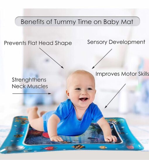New Baby Kids water play mat Inflatable Infant Tummy Time Playmat Toddler for Baby Fun Activity 5
