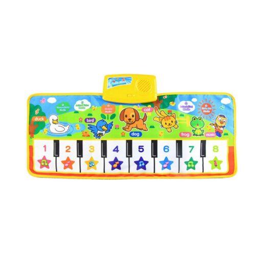 New Baby Music Carpet Touch Keyboard Electronic Music Singing Gym Carpet Kids Play Mat Educational Toy 1