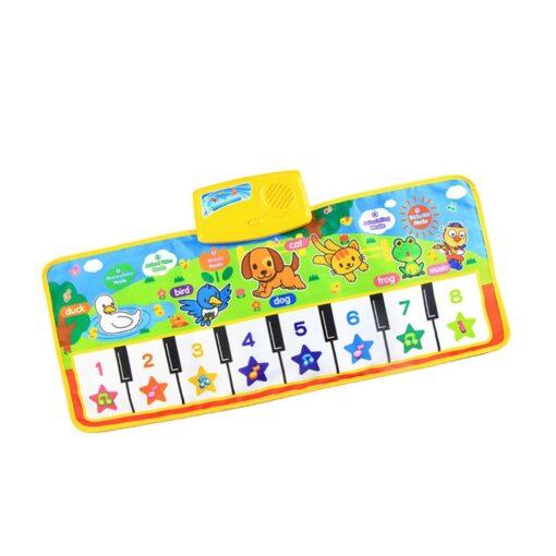New Baby Music Carpet Touch Keyboard Electronic Music Singing Gym Carpet Kids Play Mat Educational Toy 2