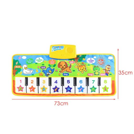 New Baby Music Carpet Touch Keyboard Electronic Music Singing Gym Carpet Kids Play Mat Educational Toy 3