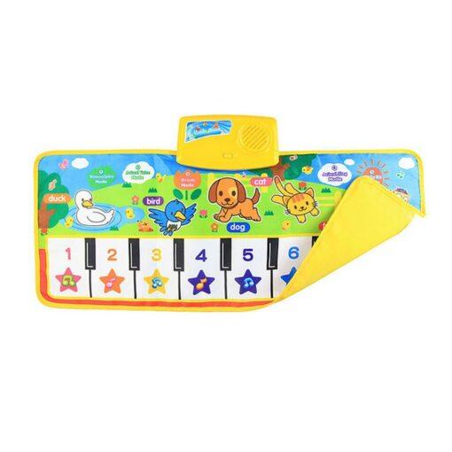 New Baby Music Carpet Touch Keyboard Electronic Music Singing Gym Carpet Kids Play Mat Educational Toy 5