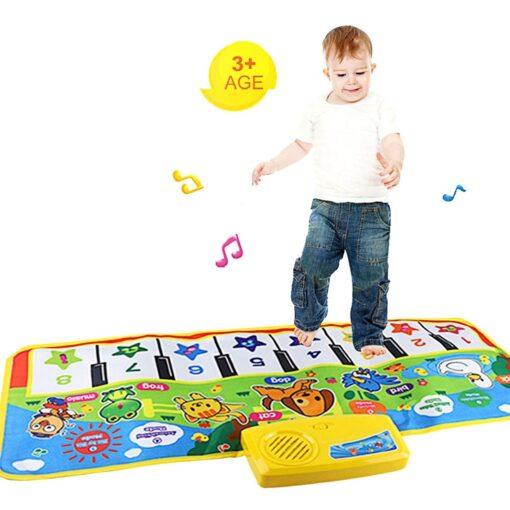 New Baby Music Carpet Touch Keyboard Electronic Music Singing Gym Carpet Kids Play Mat Educational Toy