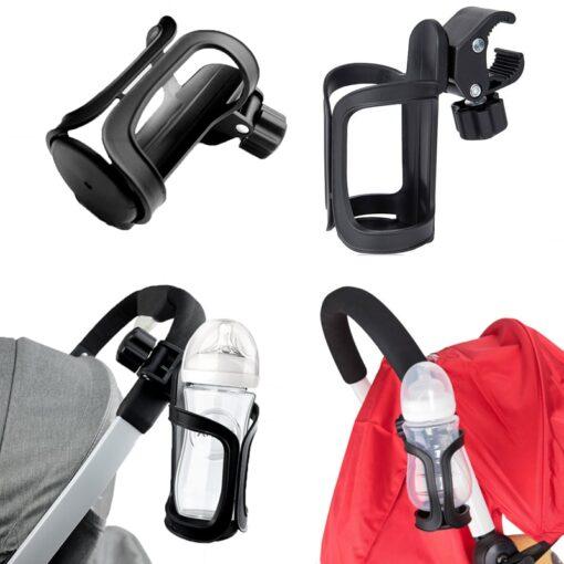 New Baby Stroller Cup Holder Rack Bottle Universal 360 Rotatable Cup Holder for Pram Stroller Carrying 6