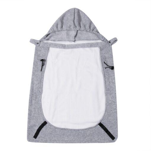 New Baby Warm Wrap Sling Carrier Windproof Kids Backpack Blanket Carrier Newborn Cloak Grey Funtional Winter 1