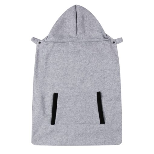 New Baby Warm Wrap Sling Carrier Windproof Kids Backpack Blanket Carrier Newborn Cloak Grey Funtional Winter 4
