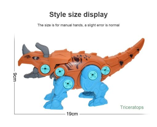 New Blocks Puzzles Nut Disassembly Dinosaur Egg With Screw Driver Tyrannosaurus Triceratops DIY Educational Toys For 1