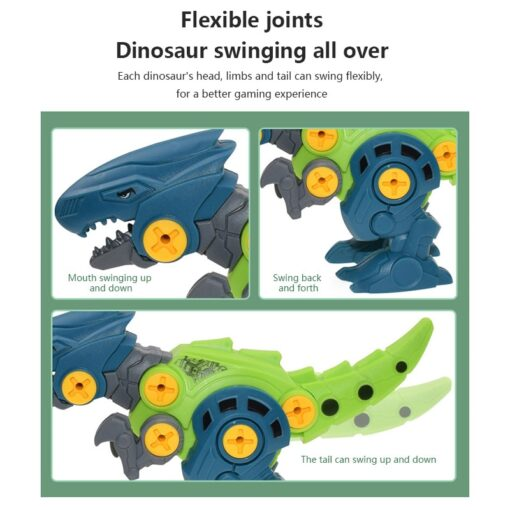 New Blocks Puzzles Nut Disassembly Dinosaur Egg With Screw Driver Tyrannosaurus Triceratops DIY Educational Toys For 4