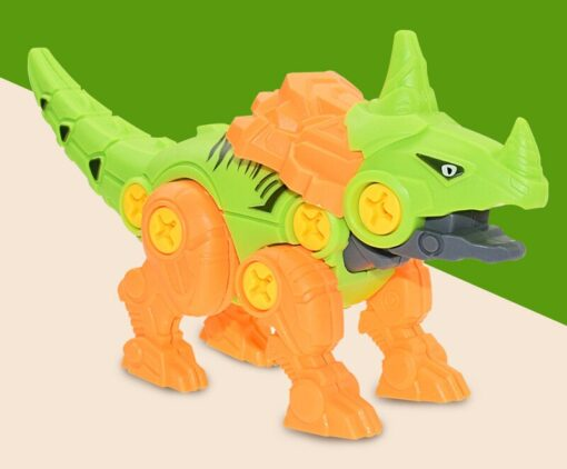 New Blocks Puzzles Nut Disassembly Dinosaur Egg With Screw Driver Tyrannosaurus Triceratops DIY Educational Toys For 5