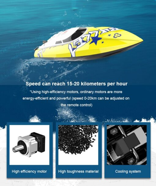 New Brushless RC Racing Boat 20KM h High Speed Electronic Remote Control Boat Toys For Kids 1