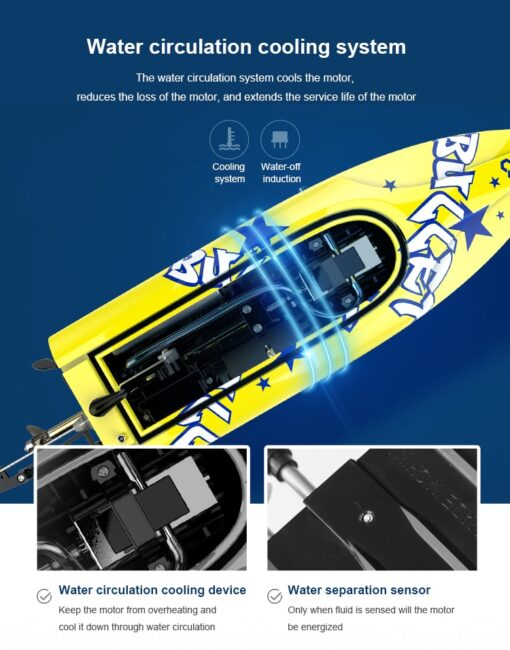 New Brushless RC Racing Boat 20KM h High Speed Electronic Remote Control Boat Toys For Kids 2