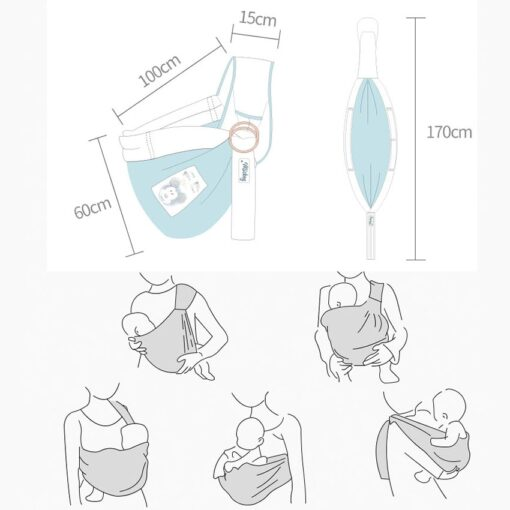 New Cartoon Child Sling Wrap Swaddling Kids Nursing Papoose Pouch Front Carry For Newborn Infant Baby 1