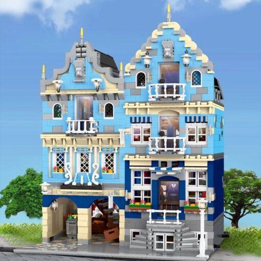 New City Street Architecture series MOC Factory Street European Market Model Building Toy Building Blocks Bricks 1