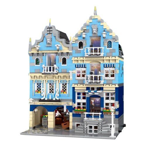 New City Street Architecture series MOC Factory Street European Market Model Building Toy Building Blocks Bricks 2