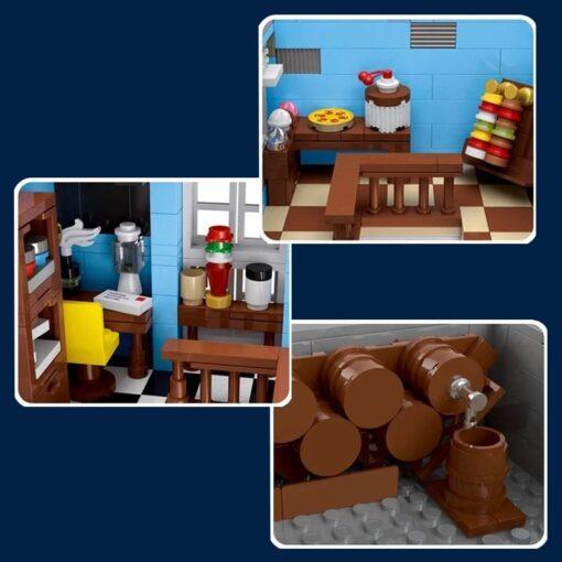 New City Street Architecture series MOC Factory Street European Market Model Building Toy Building Blocks Bricks 3