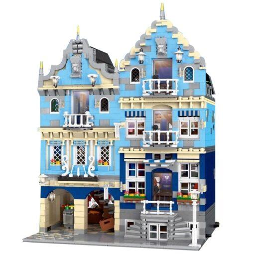 New City Street Architecture series MOC Factory Street European Market Model Building Toy Building Blocks Bricks 5