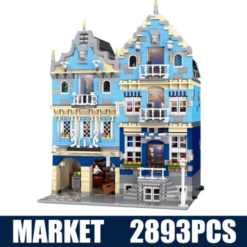 New City Street Architecture series MOC Factory Street European Market Model Building Toy Building Blocks Bricks