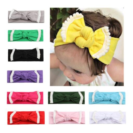 New Colorful Headwear Baby Girl Solid Color Bowknot Headband Hair Accessories For Baby Newborn New 2020