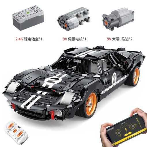New Creative RC Fords GT40 MK I 1967 Cars model MOC 33807 Building Blocks For Technic 1