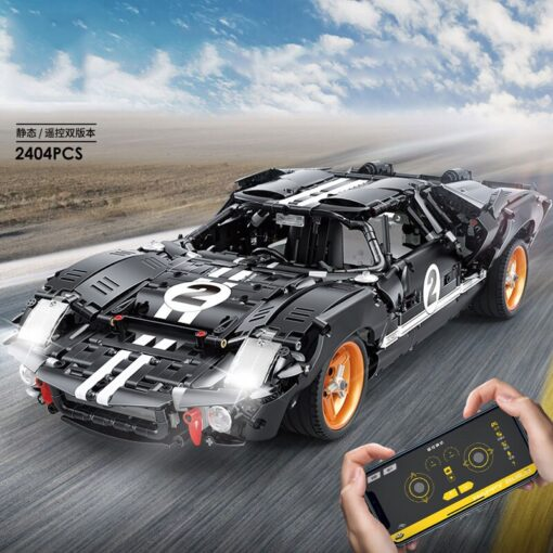 New Creative RC Fords GT40 MK I 1967 Cars model MOC 33807 Building Blocks For Technic 2