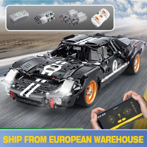 New Creative RC Fords GT40 MK I 1967 Cars model MOC 33807 Building Blocks For Technic