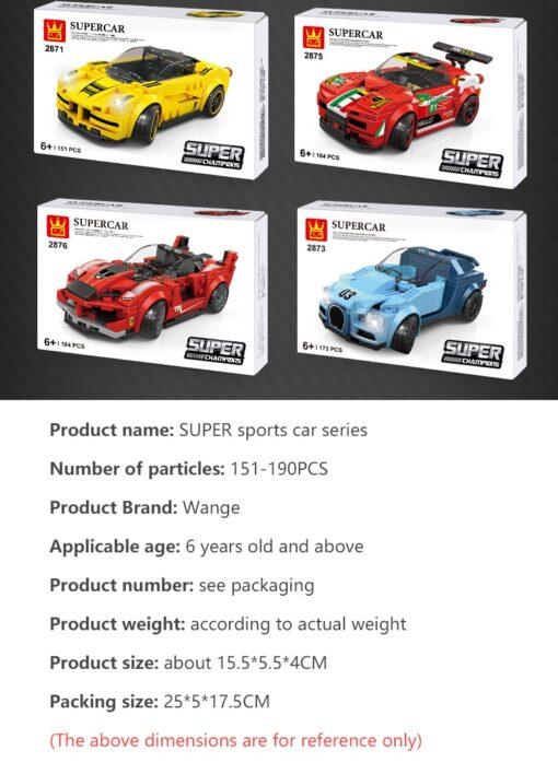 New DIY Racing Blocks Series Small Pieces of Jigsaw Jigs Children Blocks Science Educational City Speed 2