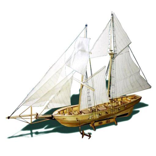 New DIY Wooden Sailboat Assembly Model Assembling Building Kits Ship Model Harvey Diy Wooden Sailboat Toys 1
