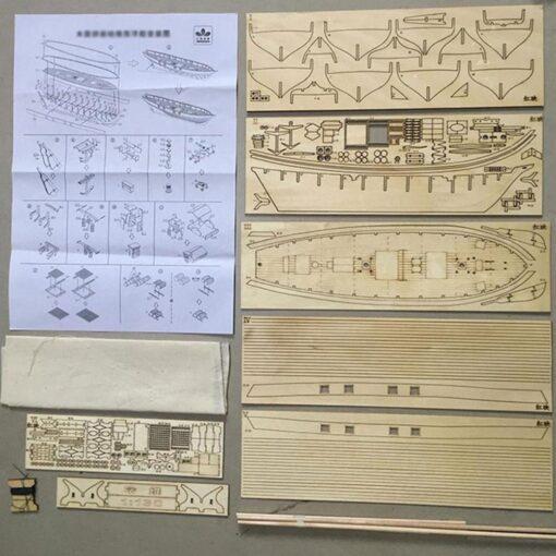 New DIY Wooden Sailboat Assembly Model Assembling Building Kits Ship Model Harvey Diy Wooden Sailboat Toys 3