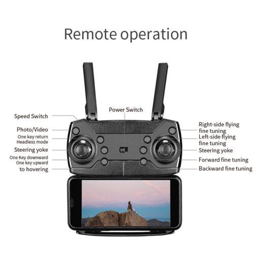 New E88 Pro Mini Drone 4K 1080P HD Camera WiFi Fpv Air Pressure Altitude Hold Black 4