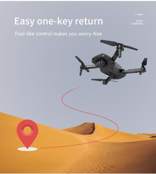 New E99Pro Mini Drone E58 Level 4K Double Camera WiFi Fpv Air Pressure Altitude Keep Foldable 1