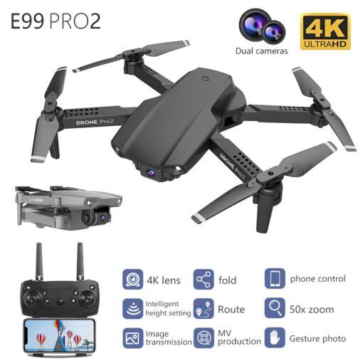 New E99Pro Mini Drone E58 Level 4K Double Camera WiFi Fpv Air Pressure Altitude Keep Foldable 5