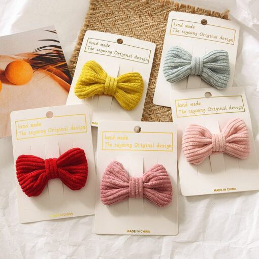 New Fashion Cute Sweet Candy Color Hairpin Baby Girl Bow Hiarclip Barrettes Headband Kids Headwear Hair 1