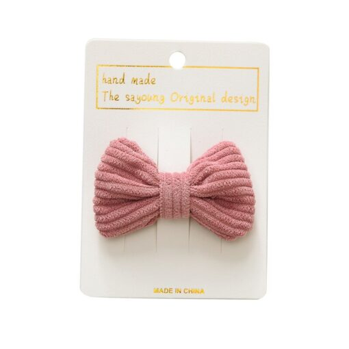 New Fashion Cute Sweet Candy Color Hairpin Baby Girl Bow Hiarclip Barrettes Headband Kids Headwear Hair 2