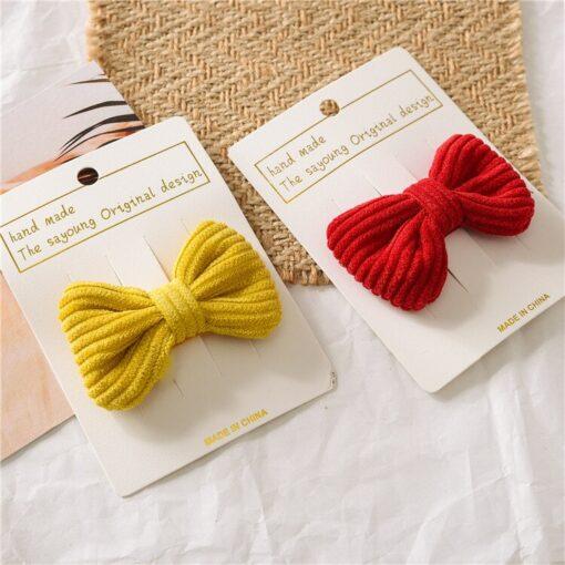 New Fashion Cute Sweet Candy Color Hairpin Baby Girl Bow Hiarclip Barrettes Headband Kids Headwear Hair 3