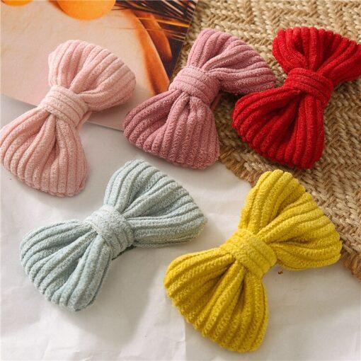 New Fashion Cute Sweet Candy Color Hairpin Baby Girl Bow Hiarclip Barrettes Headband Kids Headwear Hair 5